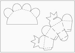 Moldes De Las Cajas De Regalos  Son 2  Una Cuadrada Y Otra En Forma