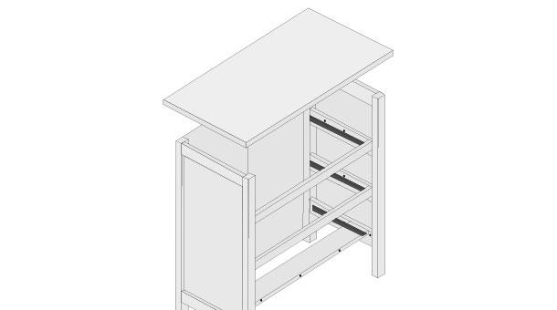 H galo usted mismo c mo armar una c moda for Como hacer una cajonera de madera paso a paso pdf