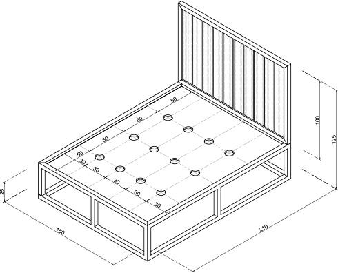 H galo usted mismo c mo hacer una cama de acero for Medida estandar de colchon de una plaza