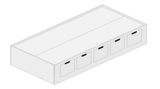 H galo usted mismo c mo hacer una cama modular infantil for Planos de escritorios en melamina