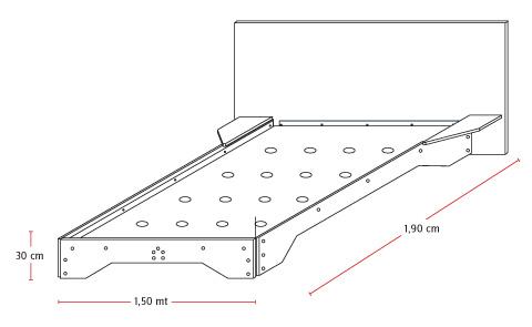 H galo usted mismo c mo construir una cama de dos plazas for Cuales son las medidas de un colchon individual