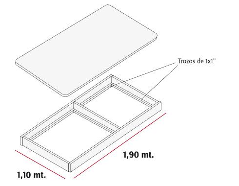 Como hacer una cama escritorio taringa for Como hacer una base de cama