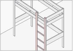 para igualar la terminacin con la cama fijar las tablas de pino finger de x cms sobre los verticales de pino cepillado