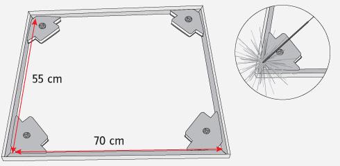 H galo usted mismo c mo hacer una campana para el quincho - Como instalar una bisagra de 180 grados ...