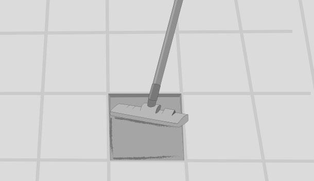 H galo usted mismo c mo cambiar una cer mica de piso rota - Como quitar rayones en el piso de ceramica ...