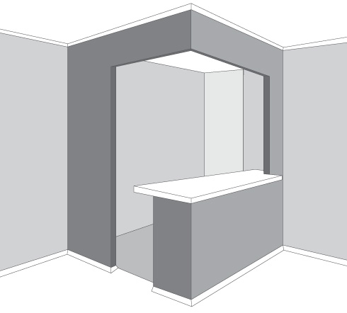 Cocina separada salon cristal for Cocinas integrales ferreti