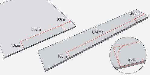 a la cabecera laterales y piecera hay que hacer unos calados para formar sus patas en su parte inferior son cortes que irn redondeados en sus esquinas