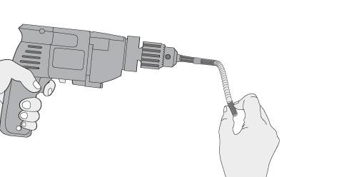 hacer las en los rebajes de todas las piezas por donde se pasarn los tarugos para hacer el armado de la cuna hay que usar un flexible para