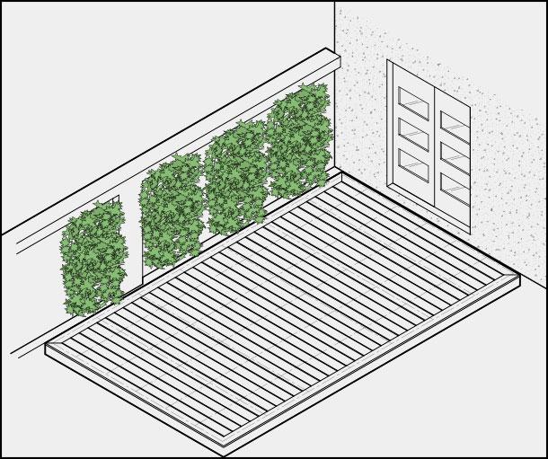 H galo usted mismo c mo instalar un deck nivelable de - Como hacer un muro verde ...