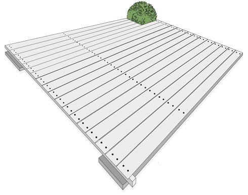 H galo usted mismo c mo construir un deck o terraza de for Como hacer una piscina en una terraza