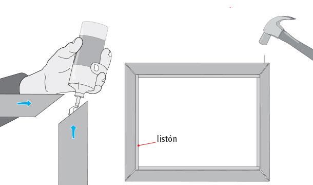 Como enmarcar un lienzo con bastidor hacer el marco with - Enmarcar lienzo ...