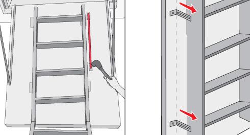 H galo usted mismo c mo instalar una escala para el for Como construir una escalera metalica