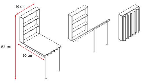 la estructura se construir con terciado mueblista de mm y las patas del escritorio sern de pino finger de x mm