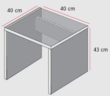 Muebleria de interio y exterior mesa para pc for Medidas estandar de escritorios de oficina