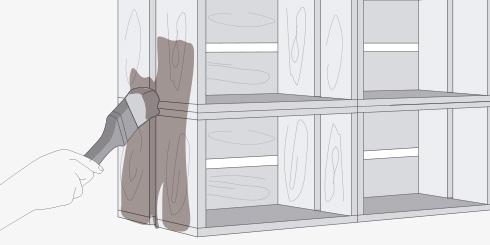 H galo usted mismo c mo hacer un estante con cajones de for Libro para hacer muebles