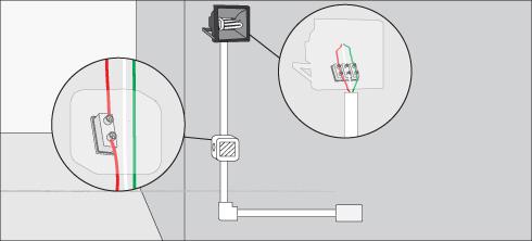 H galo usted mismo c mo instalar foco reflector con - Como conectar un sensor de movimiento de tres cables ...