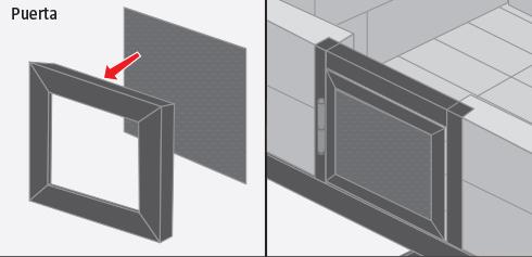 construir un marco con perfil ngulo doblado y soldarlo a la estructura