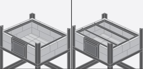 para montar el tambor sobre los ladrillos hacer un marco interior de fierro con las medidas del borde superior de la cmara de combustin horno de lea