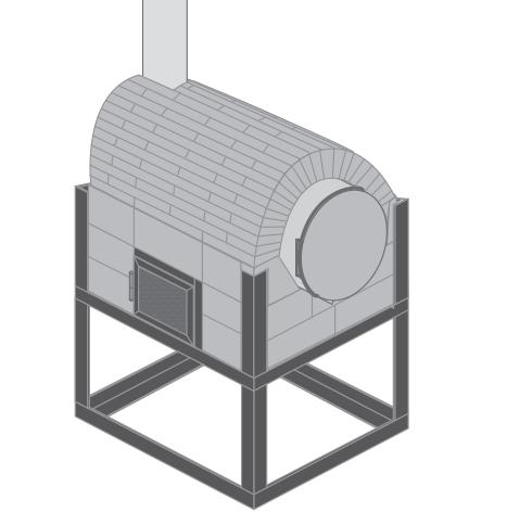 H galo usted mismo c mo hacer un horno con un tambor y for Medidas de hornos pequenos
