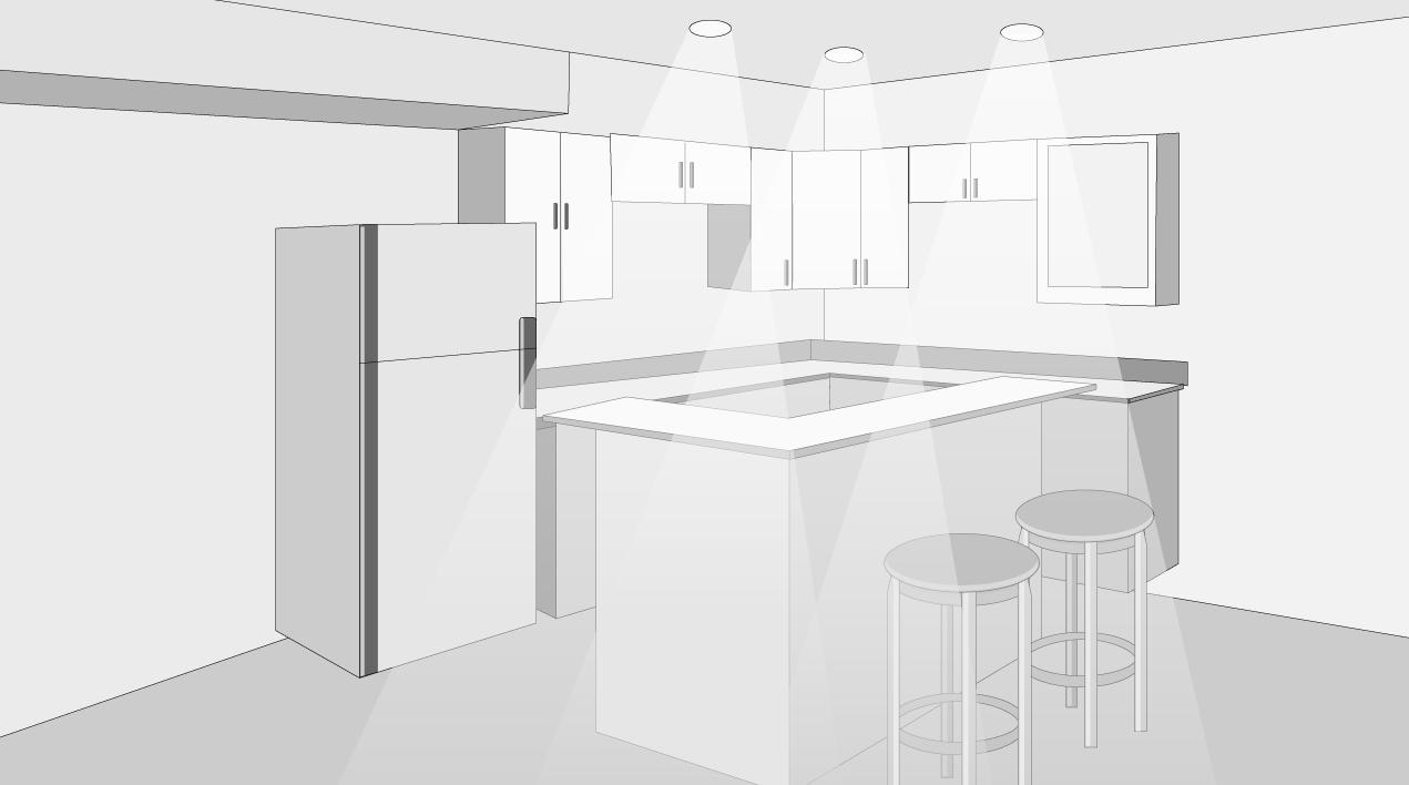 H galo usted mismo c mo iluminar la cocina - Como iluminar un escaparate ...