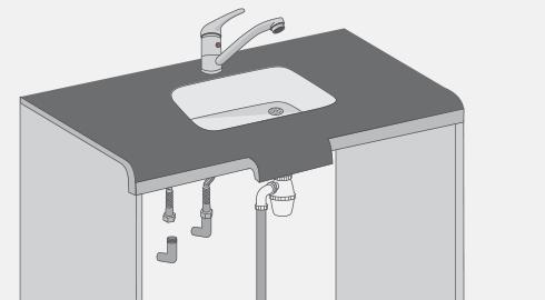 H galo usted mismo c mo instalar el wc y vanitorio - Mueble encima wc ...