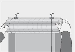 H galo usted mismo c mo instalar una cortina enrollable for Como instalar un estor plegable