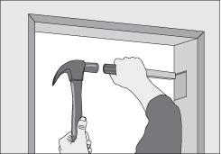 Como instalar marco para puerta de madera