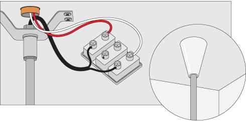 H galo usted mismo c mo instalar una l mpara de colgar - Regleta para cables ...