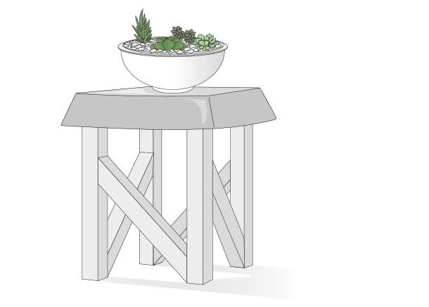 H galo usted mismo c mo hacer una mesa lateral de hormig n for Hagalo usted mismo mesa