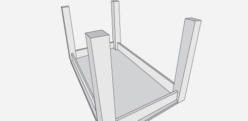 H galo usted mismo c mo construir una mesa de comedor - Como poner fibra de vidrio ...