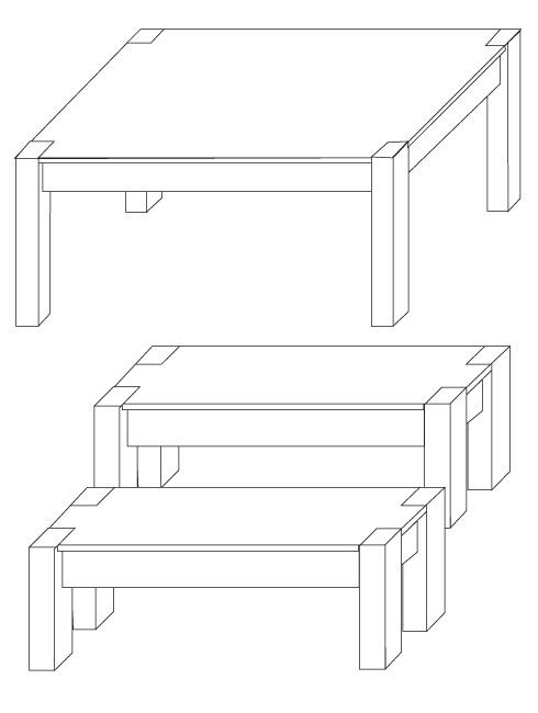 H galo usted mismo c mo construir una mesa de comedor for Comedor facil de dibujar