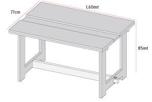 H galo usted mismo c mo construir un mes n de trabajo for Dimensiones de una mesa de trabajo