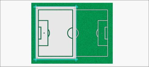 Como Dibujar tecnicamente una cancha de Fútbol