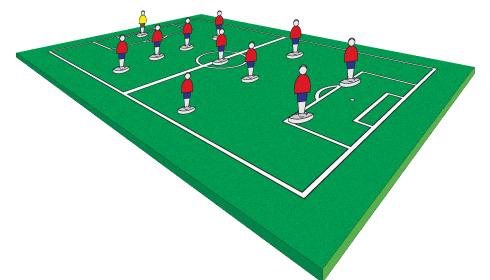 Como dibujar una cancha de futbol con los jugadores - Imagui