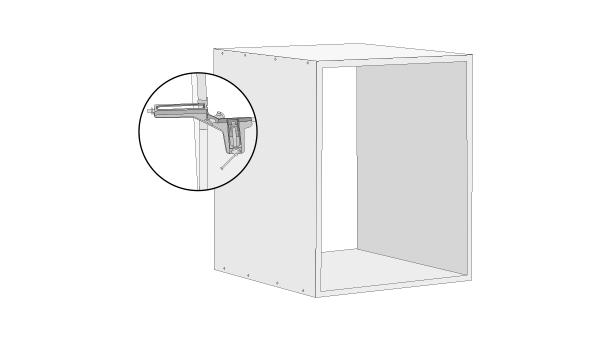 Para hacer los 3 cubos unir, para cada uno, con prensas esquinas 2