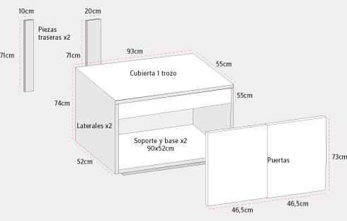 H galo usted mismo c mo construir mueble para lavamanos - Como hacer un mueble para el lavabo ...
