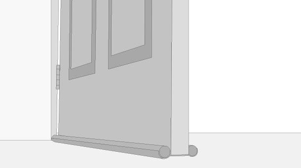 H galo usted mismo c mo sellar puertas con burletes - Aislar puerta entrada piso ...