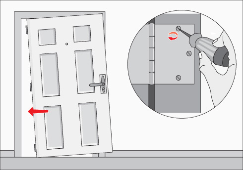 H galo usted mismo c mo instalar puerta de seguridad for Como hacer una puerta de metal