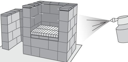 H galo usted mismo c mo hacer un quincho con bloques de - Como se hace una pared de ladrillos ...