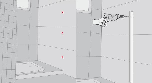 H galo usted mismo c mo remodelar un ba o - Instalar una mampara de ducha ...