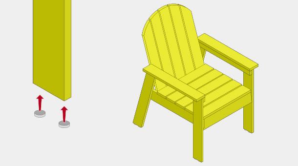 H galo usted mismo c mo hacer una cl sica silla de madera for Fabricacion de bares de madera