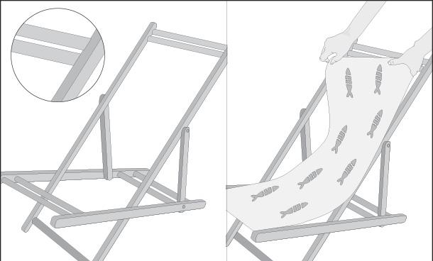 H galo usted mismo c mo recuperar silla de playa - Como se tapiza una silla paso a paso ...