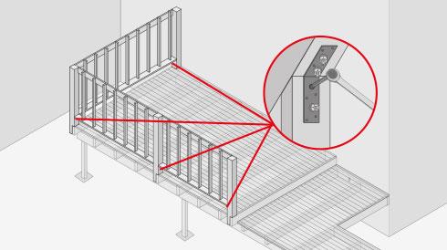 H galo usted mismo c mo construir una terraza de madera - Cuanto cuesta cerrar una terraza ...