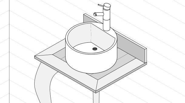 H galo usted mismo c mo hacer un vanitorio vintage para - Como hacer un mueble para el lavabo ...