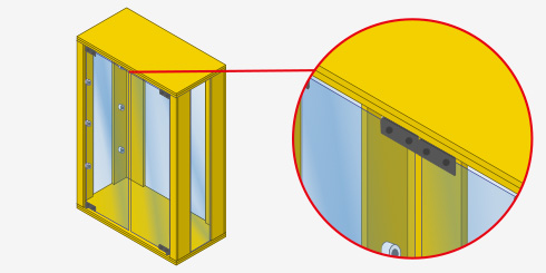 H galo usted mismo c mo hacer una vitrina minimalista - Como poner fibra de vidrio ...