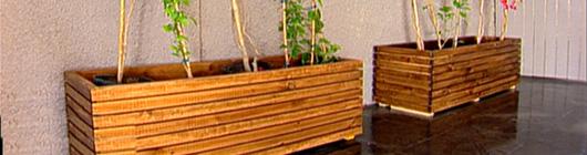 Como hacer una jardinera de madera o ladrillo taringa - Jardineras de madera caseras ...