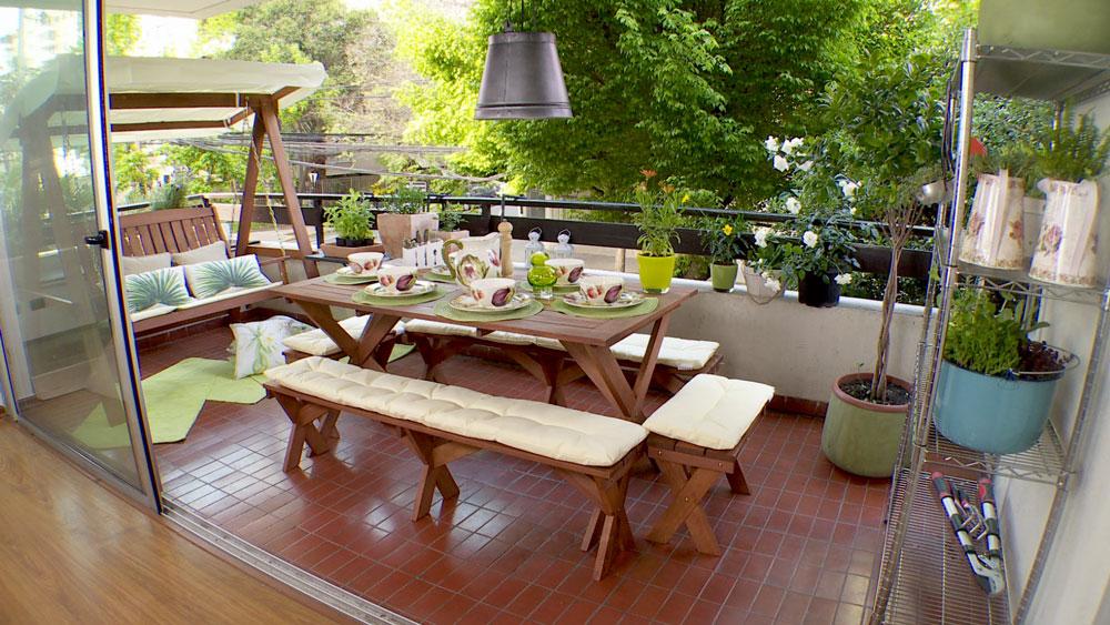Ideas para construir mi casa terraza pequea en madera con - Ideas para hacer una casa ...