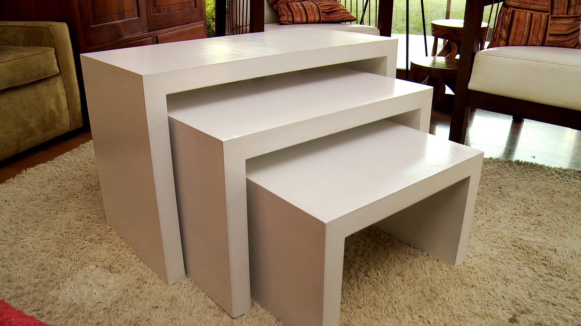 H galo usted mismo c mo hacer un vanitorio vintage para for Construir mesa de madera
