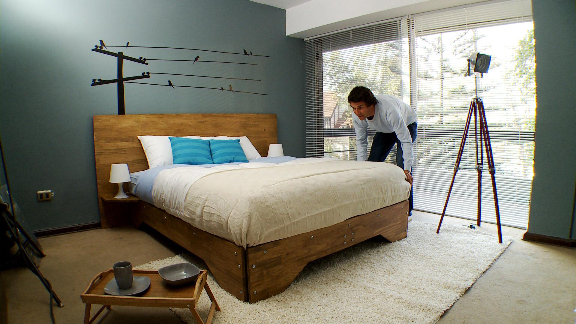 Como hacer un estante de madera for Medidas camas americanas