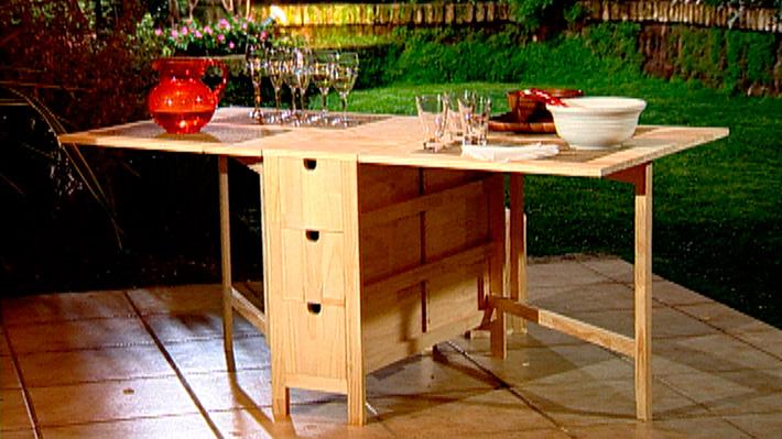 H galo usted mismo c mo construir una mesa multiuso y - Como hacer una mesa abatible ...
